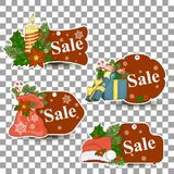 Christmas balls sale. Special offer vector tag. New year holiday card template. Shop market poster design. Christmas pictures for sale. Special offer vector tag Stock Photos