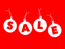 Christmas balls sale Royalty Free Stock Images