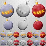 Christmas balls sales Royalty Free Stock Photos
