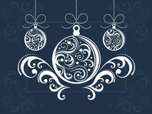 Christmas balls with scrolls Royalty Free Stock Photo