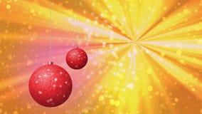 Christmas balls seamless loop video stock video footage