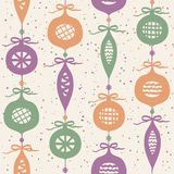 Christmas balls seamless pattern Royalty Free Stock Photography