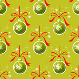Christmas balls seamless pattern Royalty Free Stock Images
