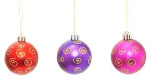 christmas balls set Stock Images