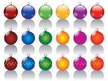 Christmas balls set Royalty Free Stock Photography