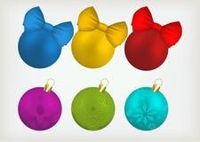 Christmas balls set. Stock Images
