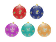 Christmas balls. Set of color Christmas balls Vector Illustration