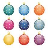 Christmas balls. A set of Christmas balls. Decorating for Christmas trees Stock Illustration