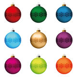 Christmas balls set Stock Photos