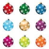 Christmas balls set Stock Photo