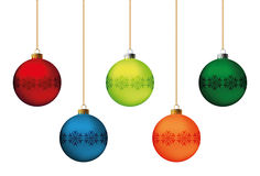 Christmas balls set Royalty Free Stock Photos