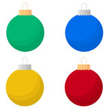 Christmas balls. Set in flat style. Great for New year and Christmas design. Vector illustration Royalty Free Stock Images