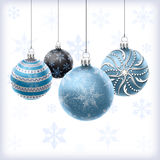 Christmas balls set Royalty Free Stock Photography