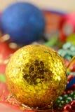 Christmas balls set, new year holiday card Royalty Free Stock Photography