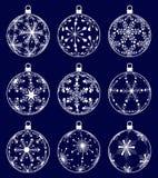 Christmas balls set Royalty Free Stock Image