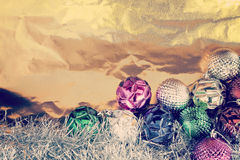 Christmas balls with shiny foil Royalty Free Stock Photos