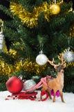 Christmas balls on sledge Stock Images