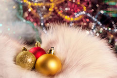 Christmas balls. Small beautiful bright Christmas Balls Royalty Free Stock Photo