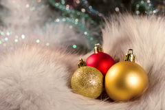 Christmas Balls. Small bright beautiful  Christmas Balls Stock Photography