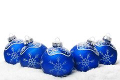 Christmas balls on snow Royalty Free Stock Photo