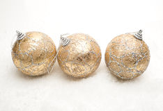 Christmas balls on snow Royalty Free Stock Images