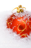 Christmas balls with snow Royalty Free Stock Image