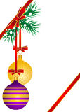 Christmas balls on the snow Royalty Free Stock Image