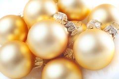 Christmas balls on snow Royalty Free Stock Photo