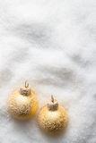 Christmas balls on snow Royalty Free Stock Photography