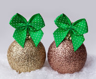 Christmas balls  in the snow Royalty Free Stock Image
