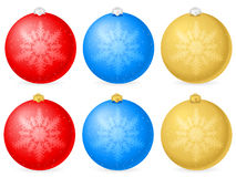 Christmas balls with snowflake Stock Image