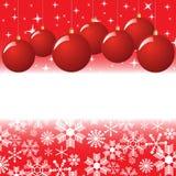 Christmas balls with snowflakes Stock Photography