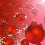 Christmas  balls and snowflakes Royalty Free Stock Photography