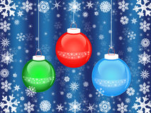 Christmas balls with snowflakes Royalty Free Stock Photography