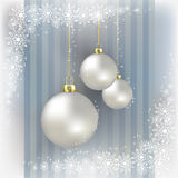 Christmas balls and snowflakes background Royalty Free Stock Image