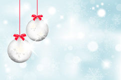 Christmas balls and snowflakes background Stock Photography
