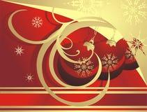 Christmas balls and snowflakes. Card Stock Image