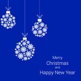 Christmas balls of snowflakes. Royalty Free Stock Photo