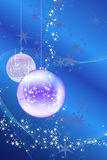 Christmas balls with snowflakes, stars and waves Royalty Free Stock Image