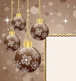 Christmas balls with space for text Royalty Free Stock Image