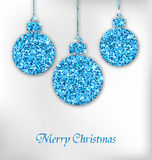 Christmas Balls with Sparkle Surface Stock Photography