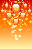 Christmas balls with sparkles Royalty Free Stock Photo