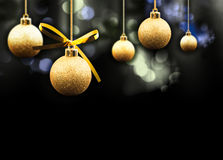 Christmas balls on a sparkling background stock photography