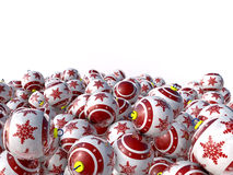 Christmas balls stacked Royalty Free Stock Images
