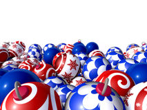 Christmas balls stacked Royalty Free Stock Photo