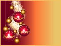 Christmas balls with stars Stock Photos