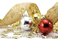 Christmas balls with stars Royalty Free Stock Image