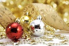 Christmas balls with stars Royalty Free Stock Photo