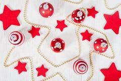 Christmas balls and stars Stock Photography