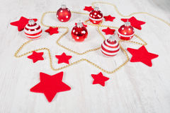 Christmas balls and stars Royalty Free Stock Images